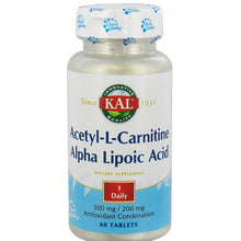 Load image into Gallery viewer, Acetyl-L-Carnitine and Alpha Lipoic Acid - 60 Tablets
