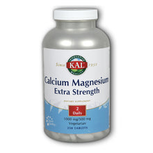 Load image into Gallery viewer, Calcium Magnesium Extra Strength 1000mg/500mg - 250 Tablets