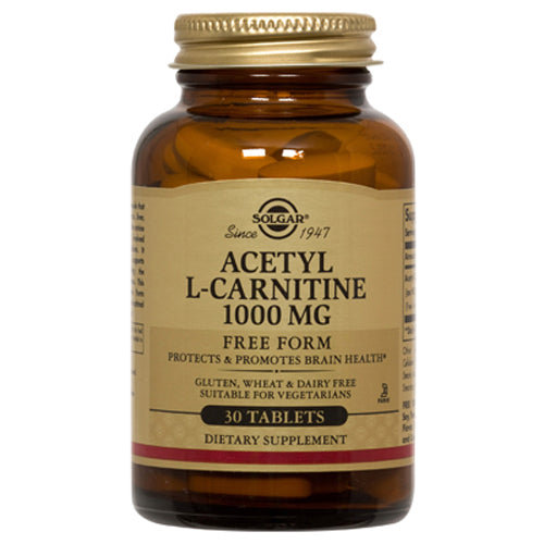 Acetyl L-Carnitine Free Form 1000 mg - 30 Tablets
