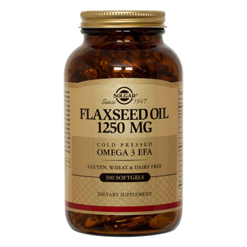 Flaxseed Oil Cold Pressed Omega3 EFA 1250mg - 100 Softgels