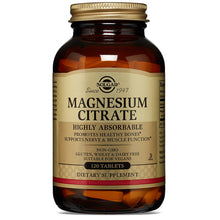 Load image into Gallery viewer, Magnesium Citrate - 120 Tablets