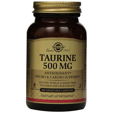 Taurine 500mg - 100 Vegetable Capsules