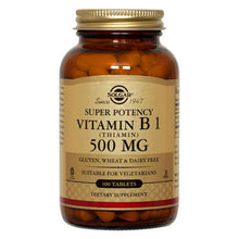 Load image into Gallery viewer, Vitamin B1 (Thiamin) 500mg - 100 Tablets