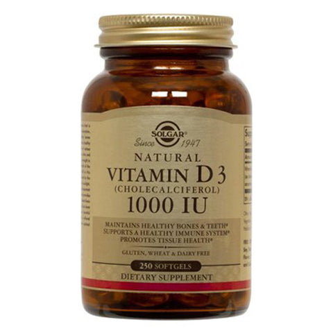 Vitamin D3 Cholecalciferol 1000 IU - 250 Softgels