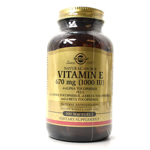 Vitamin E d-Alpha Tocopherol 1000 IU - 100 Softgels