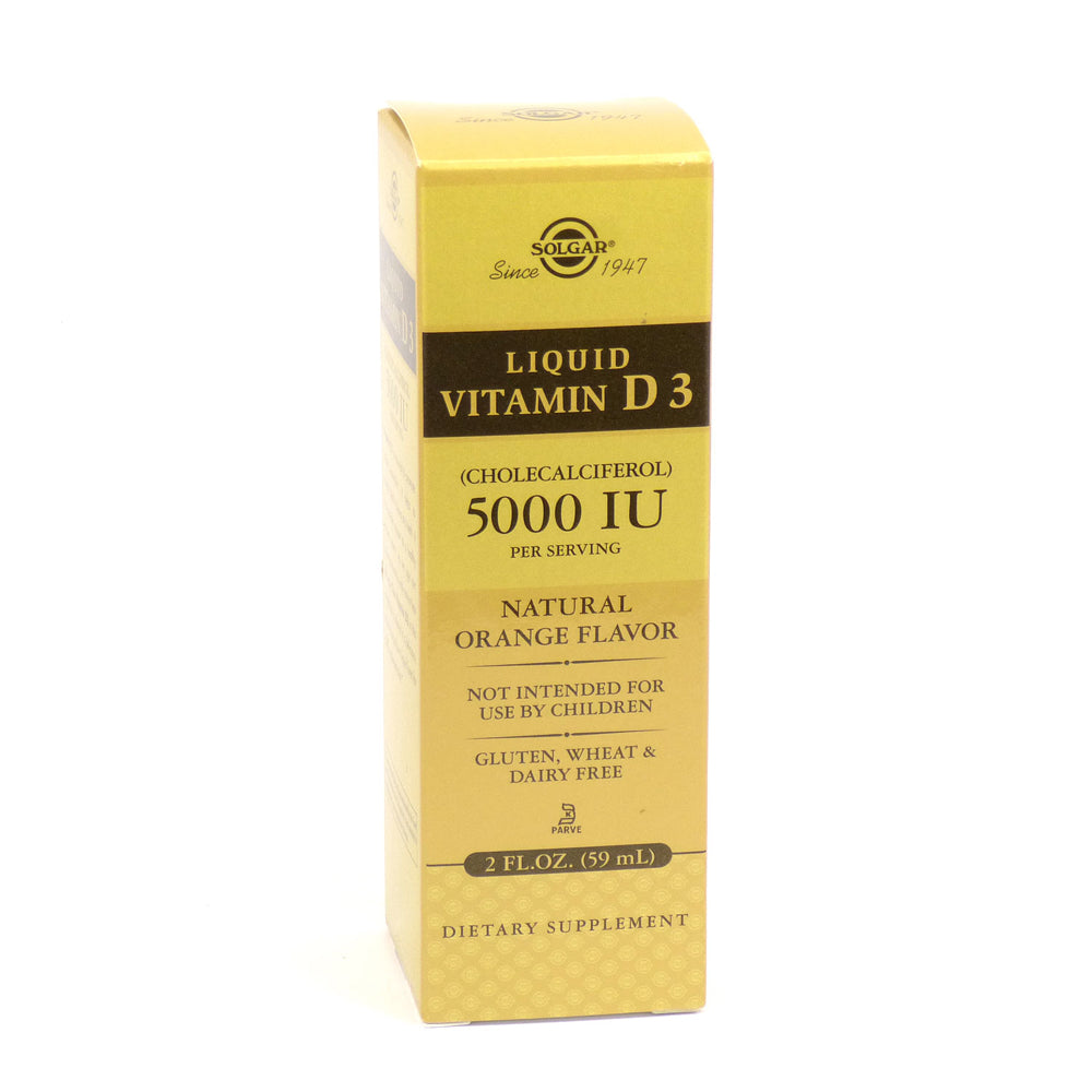 Liquid Vitamin D3 Natural Orange Flavor 5000 IU - 2 oz