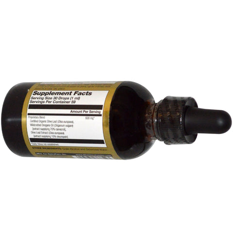Liquid Oregano Oil and Olive Leaf - 2 floz