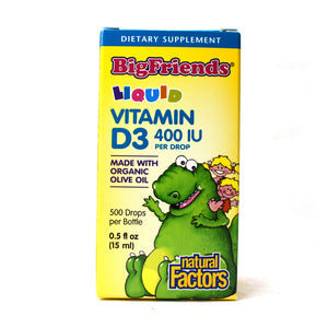 Big Friends Vitamin D3 400 IU Liquid