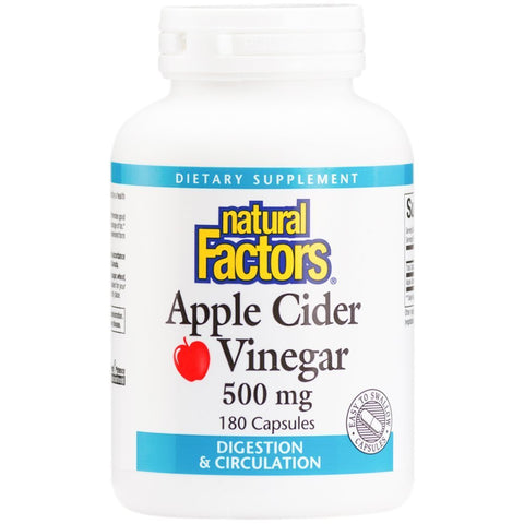 Apple Cider Vinegar 500mg - 180 Capsules