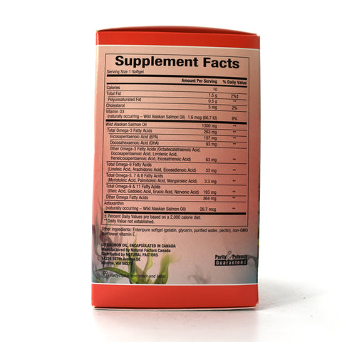 Complete Omega 100% Wild Alaskan Salmon Oil 1300 mg - 90 Enteripure Softgels