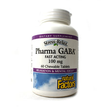 Load image into Gallery viewer, Stress-Relax Pharma GABA 100mg - 60 Chewable Tablets