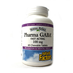 Stress-Relax Pharma GABA 100mg - 60 Chewable Tablets
