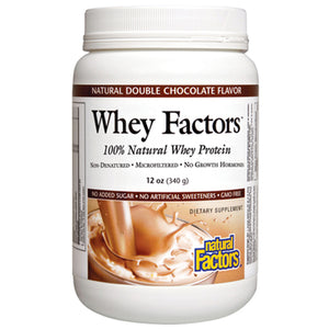 Whey Factors 100% Natural Whey Protein Double Chocolate - 12 oz