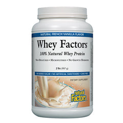 Whey Factors 100% Natural Whey Protein French Vanilla - 2 lbs.