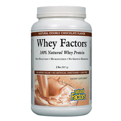 Whey Factors 100% Natural Whey Protein Natural Double Chocolate - 2 lb