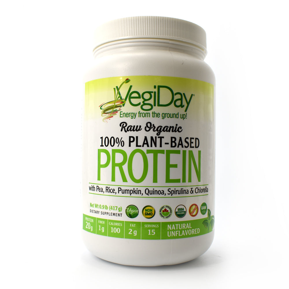 VegiDay Raw Organic Plant-Based Protein - Natural Unflavored - 13.09 oz