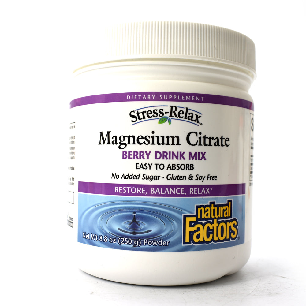 Stress-Relax Magnesium Citrate Berry Drink Mix - 8.8 oz