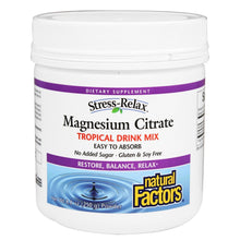 Load image into Gallery viewer, Stress-Relax Magnesium Citrate Tropical Drink Mix - 8.8 oz