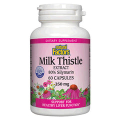 Milk Thistle Extract 80% Silymarin 250mg - 60 Capsules
