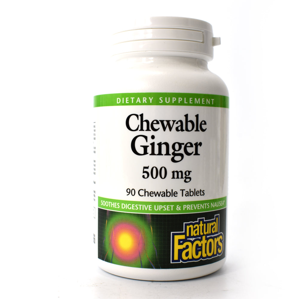 Chewable Ginger 500 mg - 90 Chewable Tablets