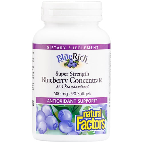 BlueRich Super Strength Blueberry Concentrate - 90 Softgels