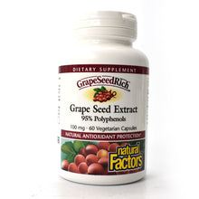 Load image into Gallery viewer, GrapeSeedRich Grape Seed Extract 95% Polyphenols 100 mg - 60 Vegetarian Capsules