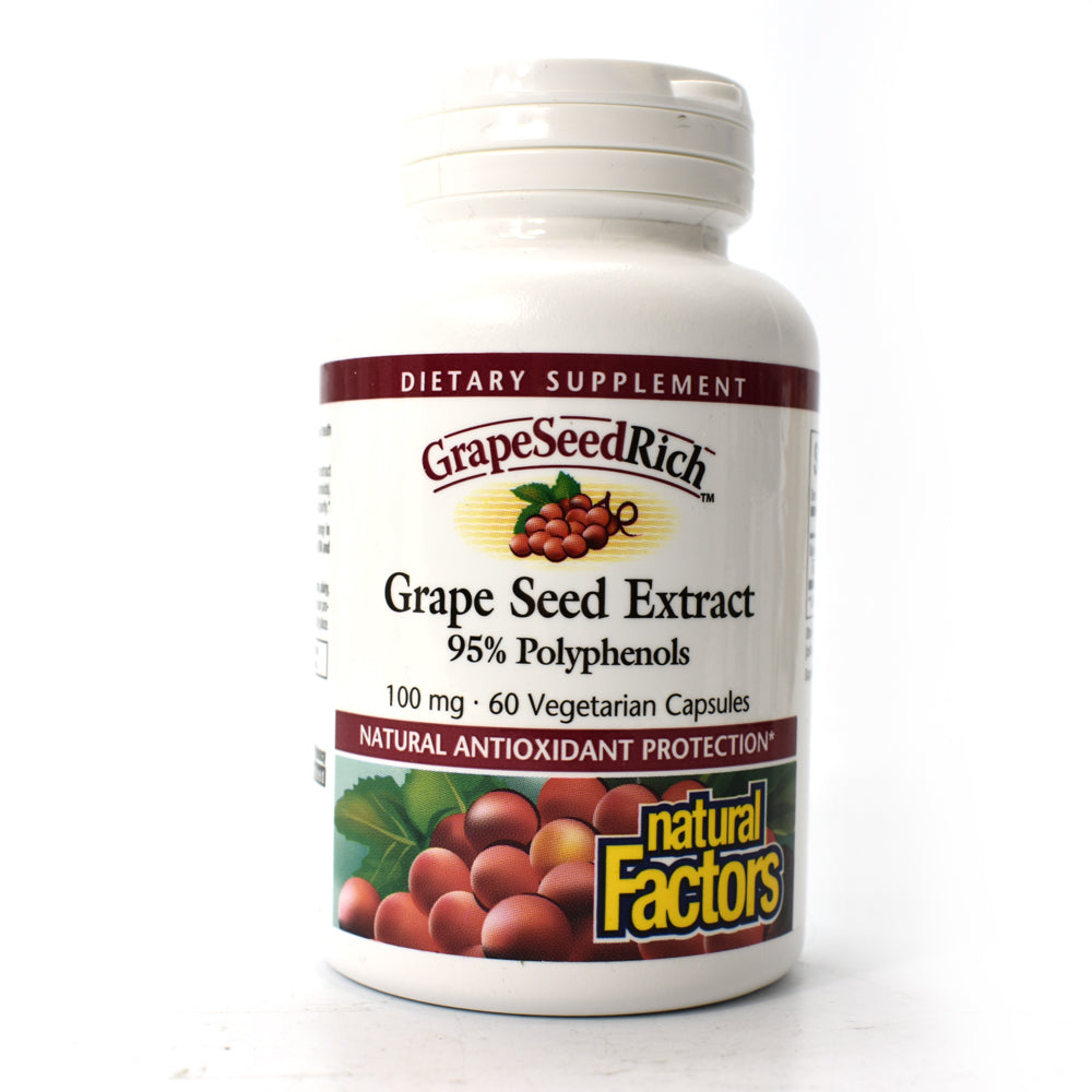 GrapeSeedRich Grape Seed Extract 95% Polyphenols 100 mg - 60 Vegetarian Capsules