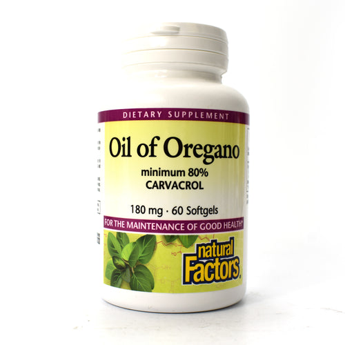 Oil of Oregano 180 mg - 60 Softgels
