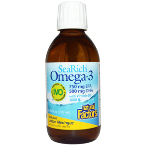 SeaRich Omega-3 750 mg EPA/500 mg DHA w/ Vitamin D3 1,000 IU Lemon Meringue - 6.76 oz