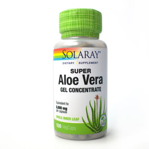 Super Aloe Vera Gel Concentrate 8000mg - 100 Vegetarian Capsules