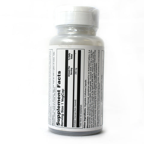 Activated Charcoal 280mg - 90 Capsules
