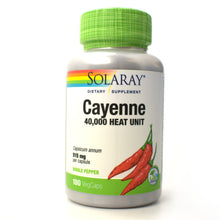 Load image into Gallery viewer, Cayenne 40,000 Heat 515mg - 180 Vegetarian Capsules
