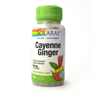 Cayenne and Ginger 550mg - 100 Vegetarian Capsules