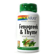 Load image into Gallery viewer, Fenugreek & Thyme 475mg - 100 Vegetarian Capsules