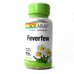 Feverfew Leaves 380mg - 100 Vegetarian Capsules
