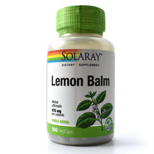 Load image into Gallery viewer, Lemon Balm 475mg - 100 Vegetarian Capsules
