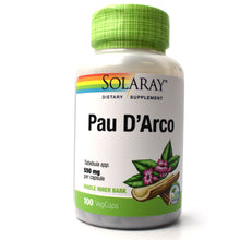 Load image into Gallery viewer, Pau D'Arco 550mg - 100 Vegetarian Capsules