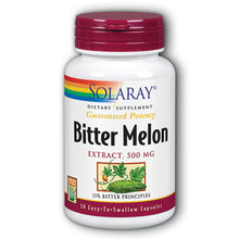 Load image into Gallery viewer, Guaranteed Potency Bitter Melon Extract 500mg - 30 Capsules