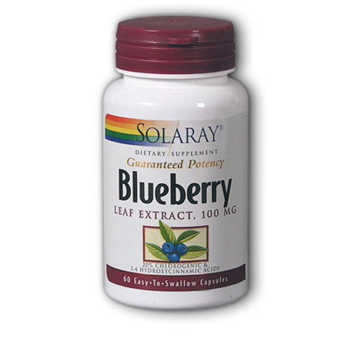 Guaranteed Potency Blueberry Leaf Extract 100mg - 60 Capsules