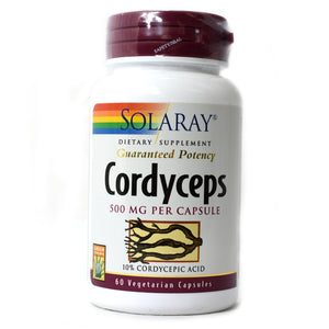 Guaranteed Potency Cordyceps 500mg - 60 Vegetarian Capsules
