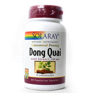 Guaranteed Potency Dong Quai Root Extract 250mg - 60 Vegetarian Capsules