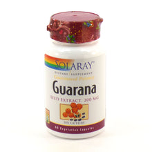 Load image into Gallery viewer, Guaranteed Potency Guarana Seed Extract 200mg - 60 Vegetarian Capsules