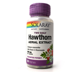 Two Daily Hawthorn Aerial Extract 300mg - 60 Vegetarian Capsules