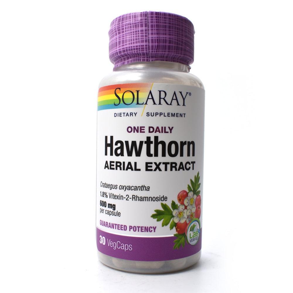 One Daily Hawthorn Aerial Extract 600mg - 30 Vegetarian Capsules