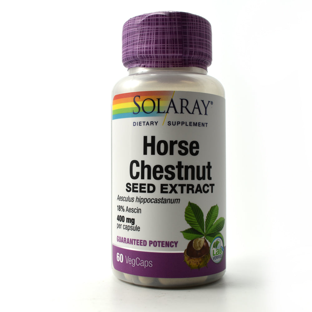 Guaranteed Potency Horse Chestnut Extract 400mg - 60 Capsules