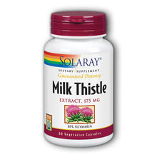 Load image into Gallery viewer, Guaranteed Potency Milk Thistle Extract 175mg - 60 Vegetarian Capsules