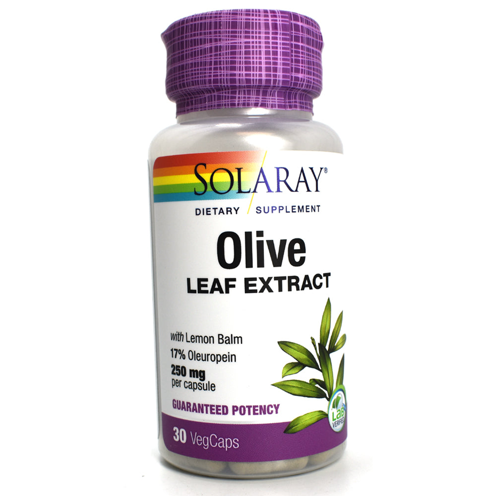 Guaranteed Potency Olive Leaf Extract 250mg - 30 Vegetarian Capsules