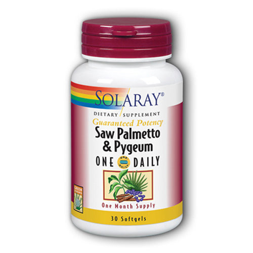 Guaranteed Potency Saw Palmetto And Pygeum One Daily - 30 Capsules