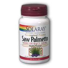 Load image into Gallery viewer, Guaranteed Potency Saw Palmetto Berry Extract - 30 Capsules
