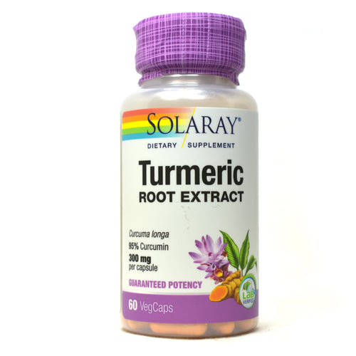 Guaranteed Potency Turmeric Root Extract 300mg - 60 Capsules